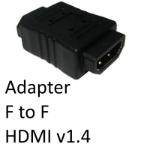 SmartTeck HDMI 1.4 (F) to HDMI 1.4 (F) Black OEM Gender Changer Adapter