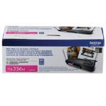 Brother TN-336M Laser toner 3500páginas Magenta tóner y cartucho láser