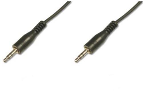 Digitus 1.5m Audio 3.5mm audio cable Black
