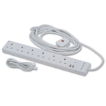 Lindy 30143 5AC outlet(s) 5m White surge protector