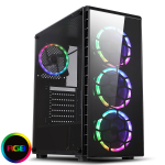CIT Raider Gaming Case 4 x Halo Spectrum RGB Fans Glass Front and Side MB SYNC