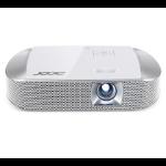 Acer K137i Beamer/Projektor 700 ANSI Lumen DLP WXGA (1280x800) 3D Kompatibilität Desktop-Projektor Grau, Weiß