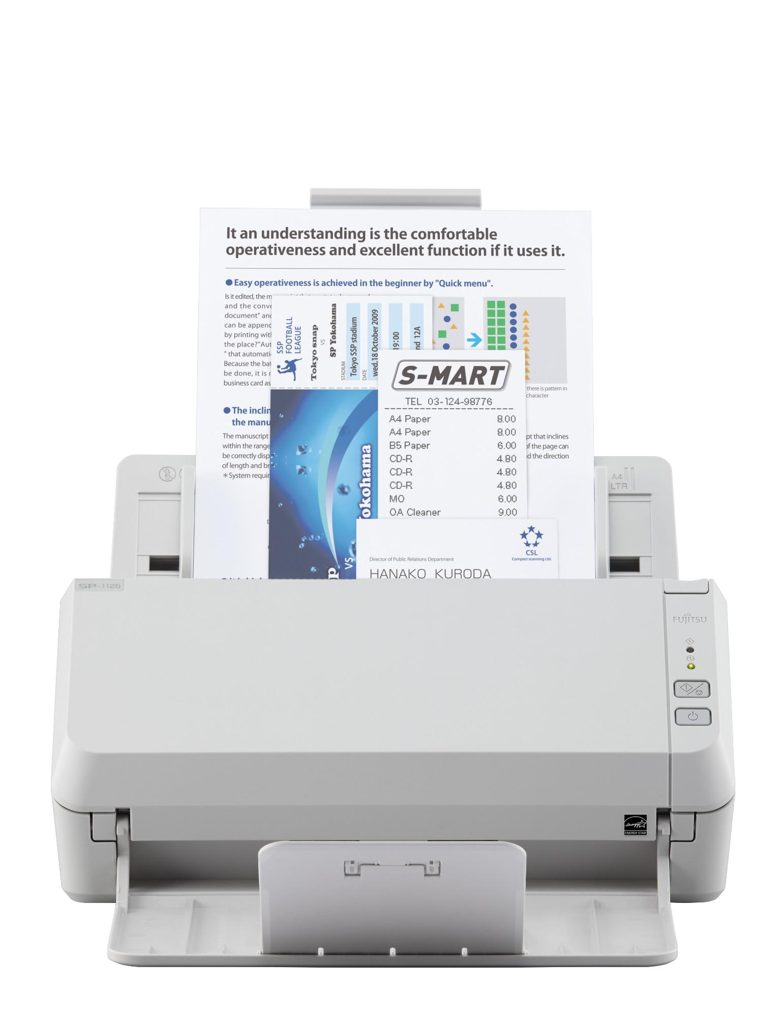 Fujitsu ScanSnap SP-1125 ADF scanner 600 x 600DPI A4 White