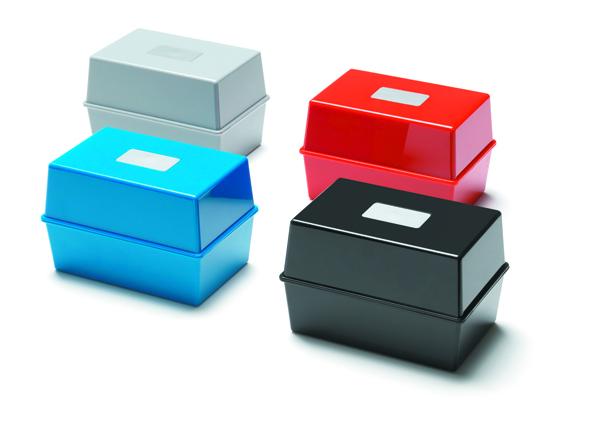 Deflecto Value Deflecto Card Index Box 8x5 Blue