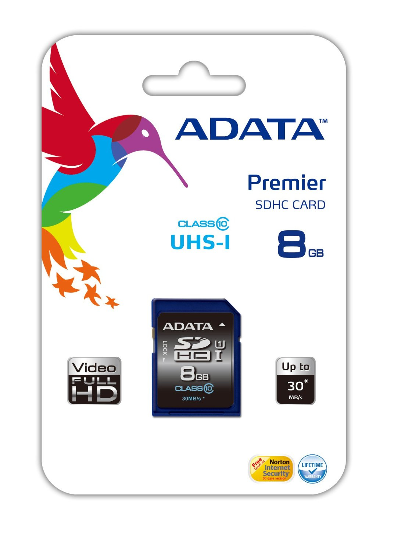 ADATA Premier SDHC UHS-I U1 Class10 8GB 8GB SDHC Class 10 memory card