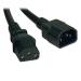 Tripp Lite Standard Computer Power Extension Cord, 10A, 18AWG (IEC-320-C14 to IEC-320-C13), 6-ft.