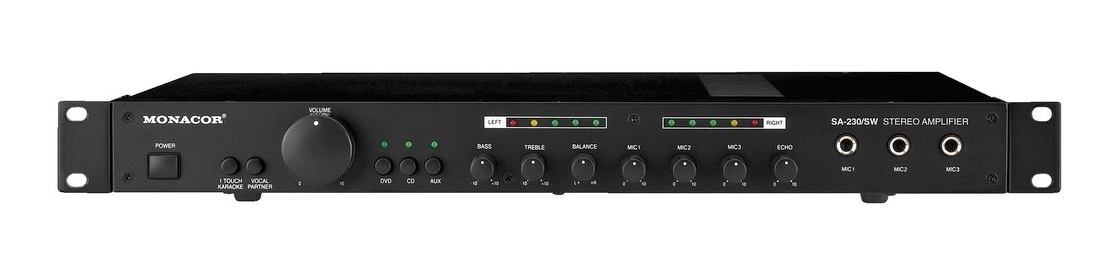 Monacor SA-230/SW Home Wired Black audio amplifier