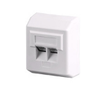 Microconnect Cat 5e, 2xRJ45 White outlet box