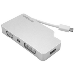 StarTech.com Aluminum Travel A/V Adapter: 4-in-1 USB-C to VGA, DVI, HDMI or mDP - 4K