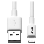 Tripp Lite USB Sync/Charge Cable with Lightning Connector, White, 3.05 m