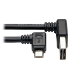 Tripp Lite Dedicated Reversible USB Charging Cable (Up / Down Angle Reversible A to Right Angle 5-Pin Micro B) Black, 0.91 m (3-ft.)
