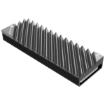 Jonsbo M.2-3 GREY computer cooling component Solid-state drive Heatsink 1 pc(s) Black, Grey