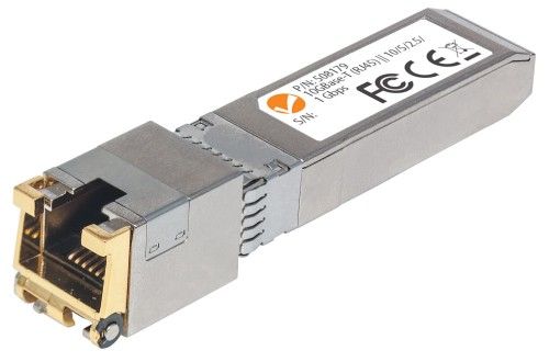 Intellinet 10 Gigabit Copper SFP+ Transceiver Module, 10GBase-T (RJ45) Port, 30m, up to 10 Gbps Data-Transfer Rate with Cat6a Cabling