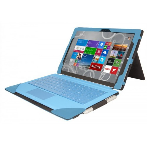 Urban Factory Elegant Folio Case for Microsoft Surface 3, Turquoise