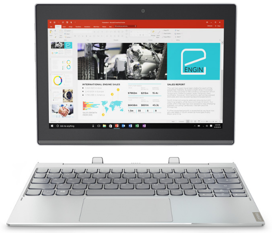 "Lenovo IdeaPad Miix 320 1.44GHz x5-Z8350 10.1"" 1280 x 800pixels Touchscreen 4G Platinum, Silver Hybrid (2-in-1)"