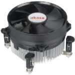 Akasa AK-CCE-7104EP computer cooling component Processor Cooler 9.2 cm Black,Silver
