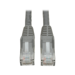 Tripp Lite Cat6 Gigabit Snagless Molded UTP Ethernet Patch Cable, 24 AWG, 550 MHz/1 Gbps (RJ45 M/M), Grey, 3.05 m