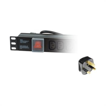 Dynamode PDU-8WS-H-IEC-UK 8AC outlet(s) 1U Black power distribution unit (PDU)
