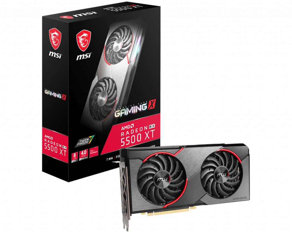 MSI V382-001R graphics card Radeon RX 5500 XT 8 GB GDDR6