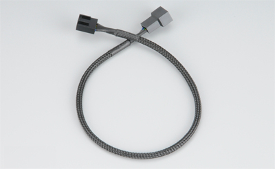 Akasa PWM fan extension cable 4-pin PWM Black