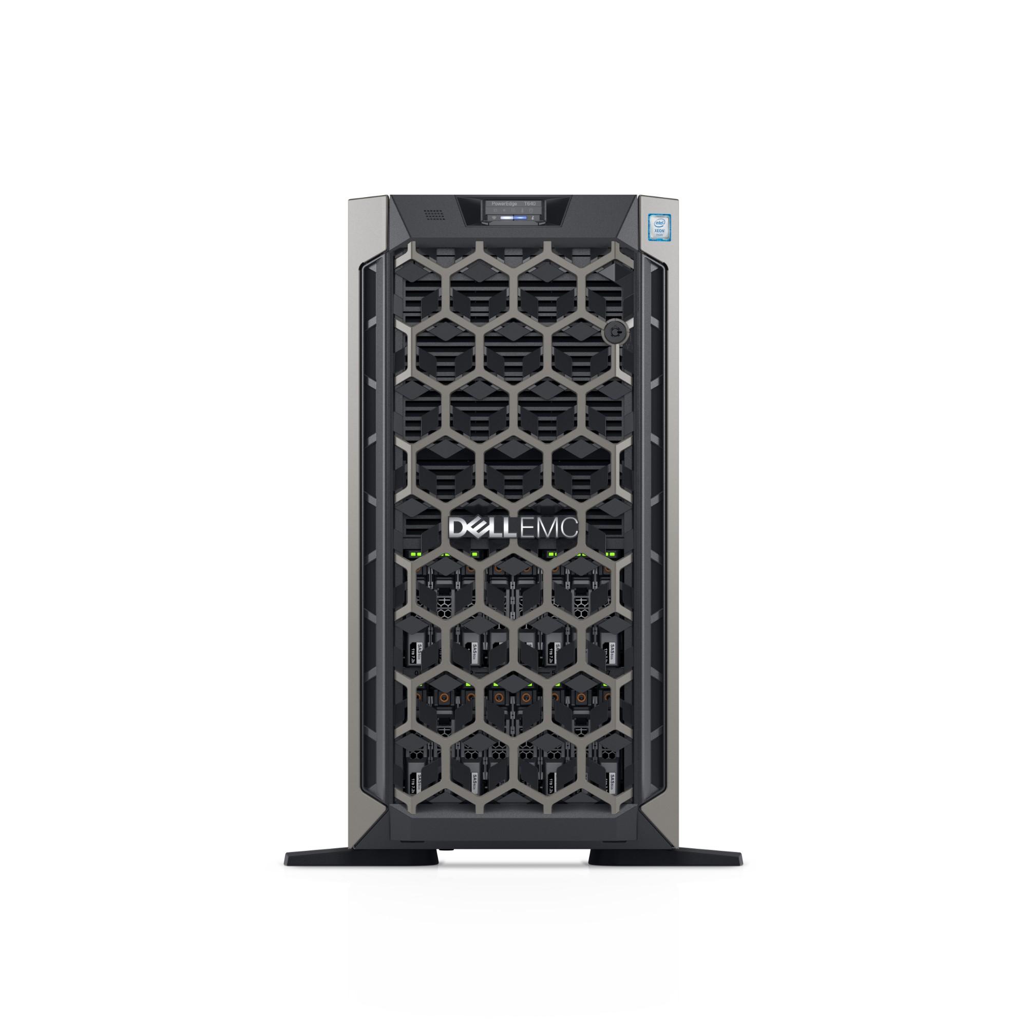 DELL POWEREDGE T640 SERVER 2.2 GHZ INTEL XEON SILVER 4214 TOWER (5U) 750 W