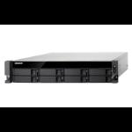 QNAP TS-877XU-RP Ethernet LAN Rack (2U) Black NAS
