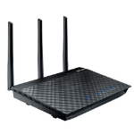 ASUS RT-AC66U draadloze router Dual-band (2.4 GHz / 5 GHz) Gigabit Ethernet Zwart