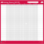 Sasco 2410143 wall planner Pink,White 2021