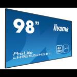 "iiyama LH9852UHS-B1 signage display Digital signage flat panel 2.49 m (98"") LED 4K Ultra HD Black"