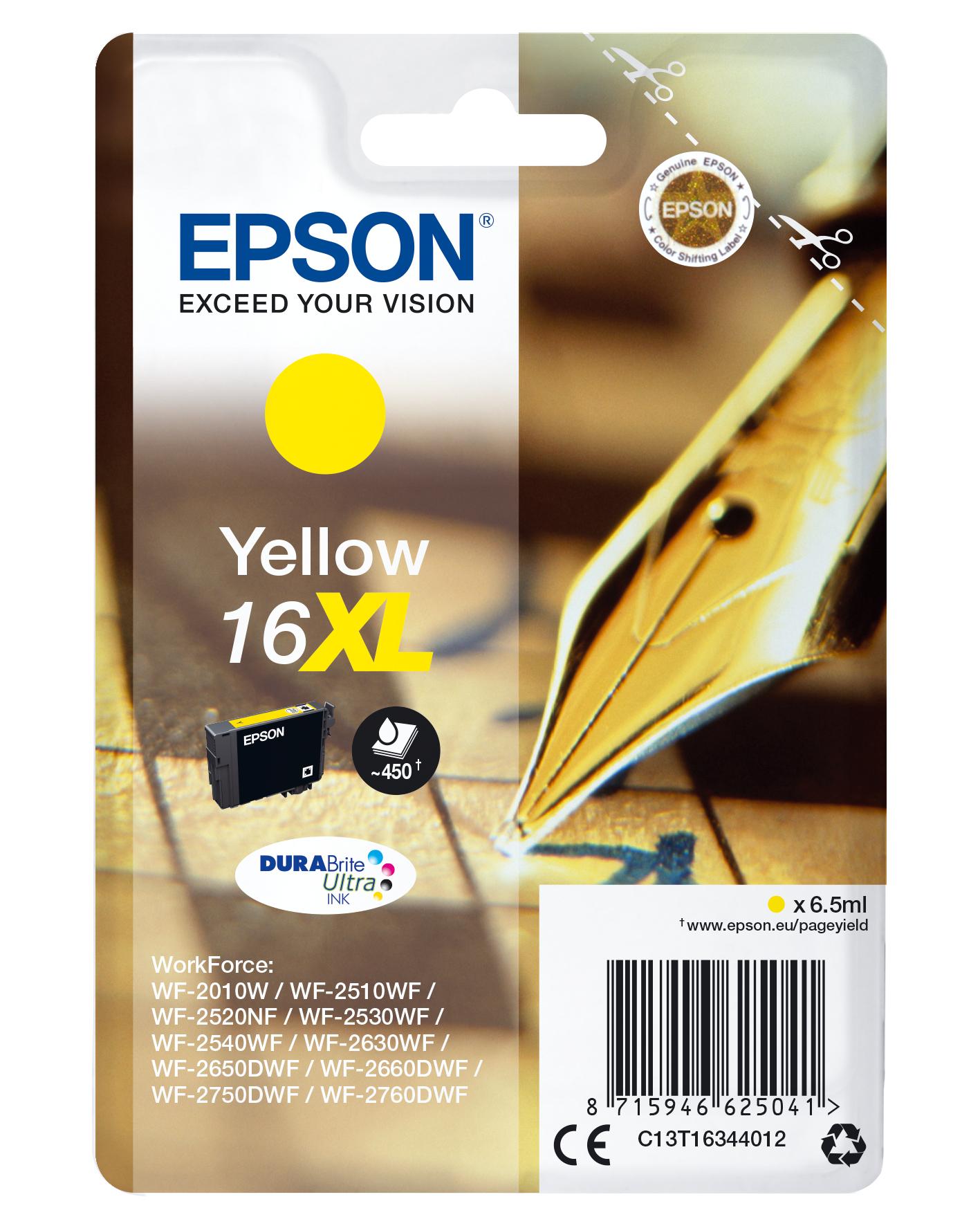 Epson Pen and crossword Cartucho 16XL amarillo (etiqueta RF)