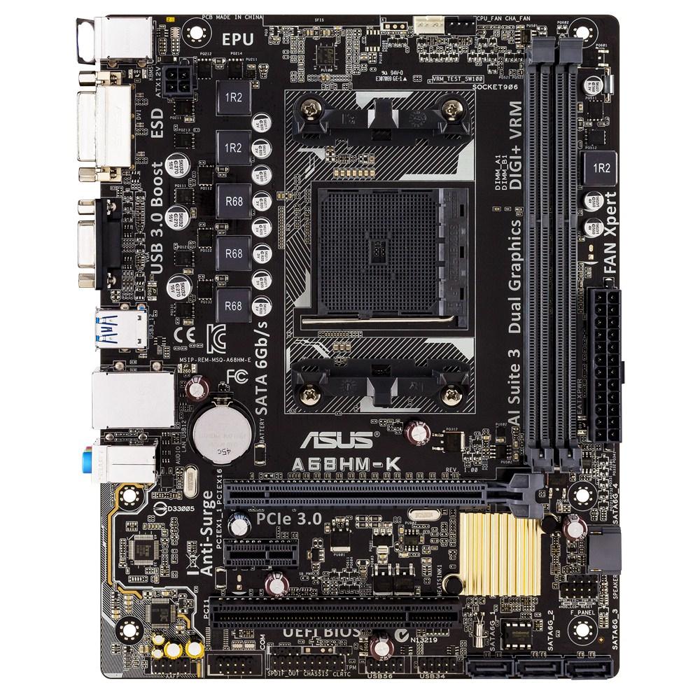 A68HM-K FM2+ A68H MATXVGA+SND+GLN+U3 SATA6GB/S