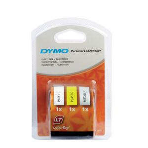 DYMO LetraTag assorted 3 pack label-making tape