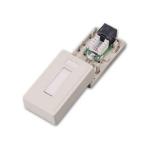 C2G Cat5E Surface Mount Box 1-Port White network splitter