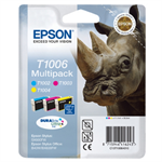 Epson C13T10064010 (T1006) Ink cartridge multi pack, 3x11,1ml, Pack qty 3