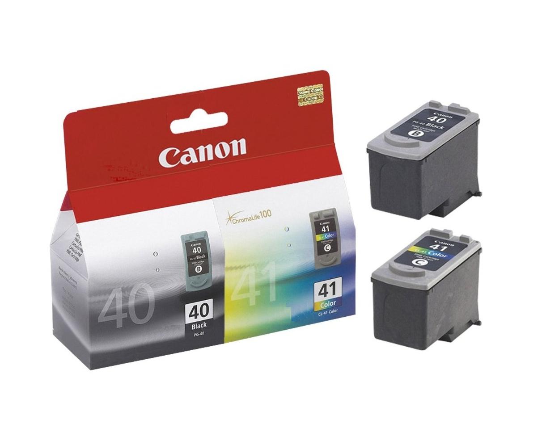 Canon PG-40 / CL-41 Original Fotos cian, Foto magenta, Negro, Amarillo para impresión de fotografías 2 pieza(s)