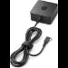 HP 45W USB-C G2 adaptador e inversor de corriente Interior Negro