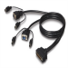 Linksys F1D9400-25 7.6m Black KVM cable