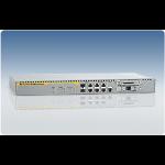 Allied Telesis 4-port 10/100/1000T Router w/ 2x10/100/1000T SFP combo + 2xPICs + 1x Async console