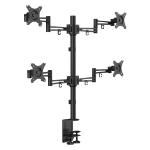 "Lindy 40967 30"" Clamp Black flat panel desk mount"