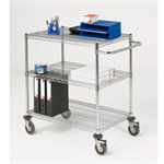 VFM Mobile Trolley 3-Tier Chrome 373000