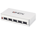 Lindy 6 Port FireWire Repeater Hub 400 Mbit/s White