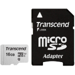 Transcend microSDHC 300S 16GB with Adapter