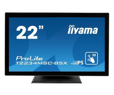 "iiyama ProLite T2234MSC-B5X 21.5"" 1920 x 1080pixels Multi-touch Black touch screen monitor"