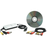 Manhattan USB-A Audio/Video Grabber, Single Button Video Capture, Copy and Pause control, Encodes in MPEG 1/2/4 format, Box