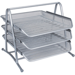 Q-CONNECT 3 TIER LETTER TRAY SILVER