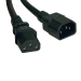 Tripp Lite Standard Computer Power Extension Cord Lead Cable, 10A, 18AWG (IEC-320-C14 to IEC-320-C13), 1.22 m (4-ft.)