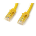 StarTech.com Cat6 patch cable with snagless RJ45 connectors – 50 ft, yellow