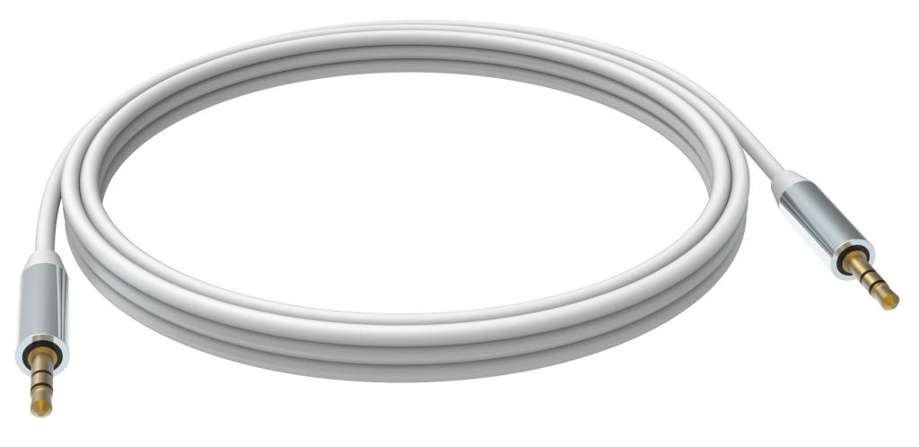 Vision 2 x 3.5mm, 2m cable de audio 3,5mm Blanco