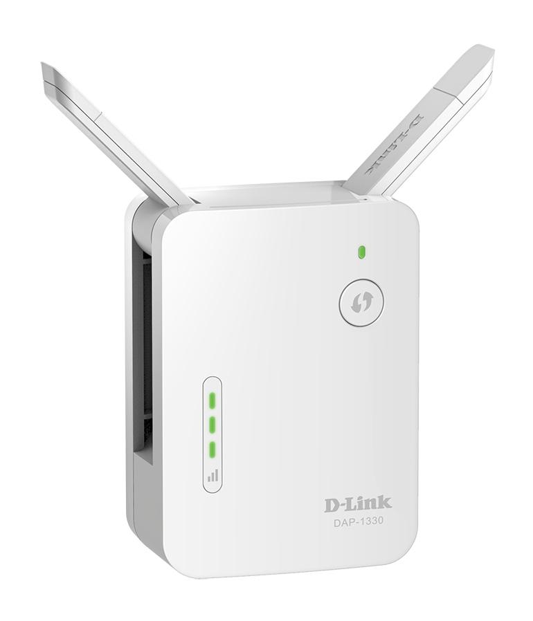 D-Link N300 Wi-Fi Range Extender White