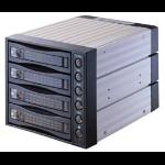 "MicroStorage SNT-3141SATA 3.5"" Black storage drive enclosure"